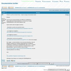 Voir le sujet - Documentation builder