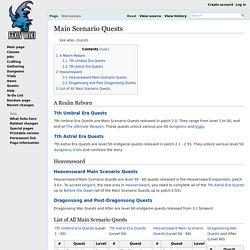 Main Scenario Quests - Final Fantasy XIV A Realm Reborn Wiki - FFXIV / FF14 ARR Community Wiki and Guide