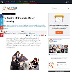 The Basics of Scenario-Based e-Learning