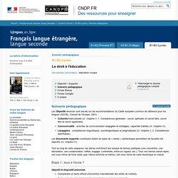 Scénario pédagogique - Dossier B1-B2 (Lycée) - L'école en France - Français langue seconde, langue étrangère - Langues en ligne - CNDP