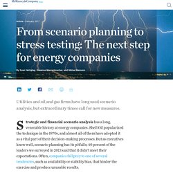 From scenario planning to stress testing: The next step for energy companies