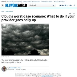Cloud's worst-case scenario: What to do if your provider goes belly up