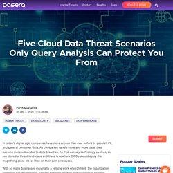 Cloud Data Threat Scenarios