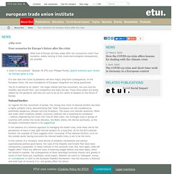Four scenarios for Europe's future after the crisis / News / About Etui / Home