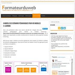6 modèles de scénarios pédagogiques pour vos modules E-learning
