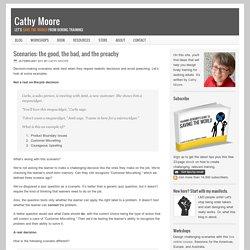 How to design scenarios with realistic feedback