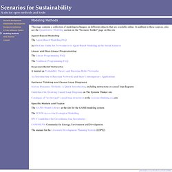 Scenarios for Sustainability: Modeling Methods