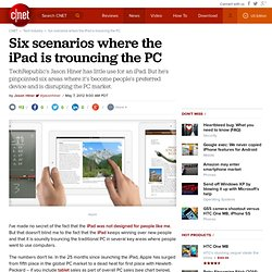 Six scenarios where the iPad is trouncing the PC
