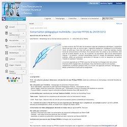 Scénarisation pédagogique : journée FFFOD du 29/05/2012