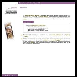 Scénariser la formation et les modules