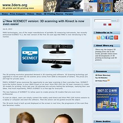 New SCENECT version: 3D scanning with Kinect is now even easier