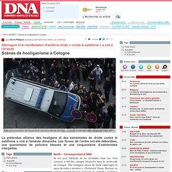 Scènes de hooliganisme à Cologne
