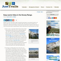 Easy scenic hikes in the Snowy Range. -Just Trails