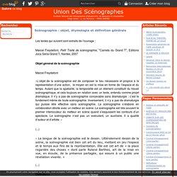 Scénographie : objet, étymologie et définition générale - Le blog de l'Union Des Scénographes