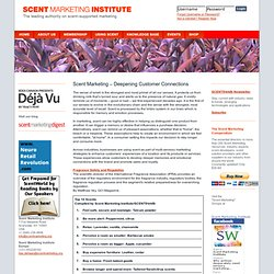 Scent Marketing Institute : Scent in the News