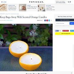 Scented Orange Candles