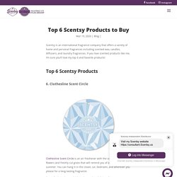 Top 6 Scentsy Products to Buy - Scents Store