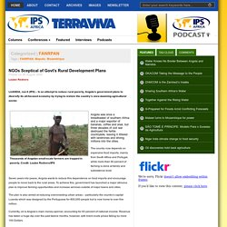 NGOs Sceptical of Govt's Rural Development Plans