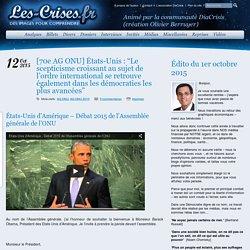 """» [70e AG ONU] États-Unis : """"Le scepticisme croissant au sujet de l'ordre international se retrouve également dans les démocraties les plus avancées"""""""