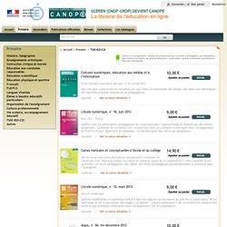 FORMULAIRE SCÉRÉN : Librairie de l'éducation : Primaire : TUIC-B2i-C2i