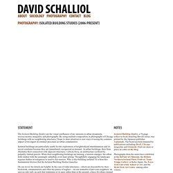 David Schalliol - Isolated Building Studies