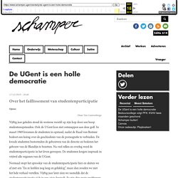 De UGent is een holle democratie