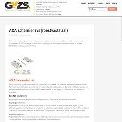 AXA scharnier roestvaststaal