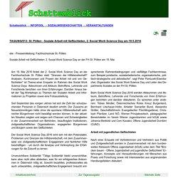 SCHATTENBLICK - TAGUNG/513: St. Pölten - Soziale Arbeit mit Geflüchteten, 2. Social Work Science Day am 19.5.2016