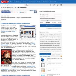 Filme online schauen: Legal, kostenlos und in deutsch