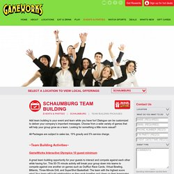 Beverage Packages for Team Building in Schaumburg