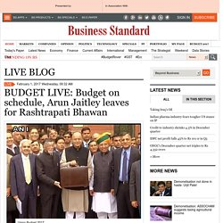 BUDGET LIVE: Budget on schedule, Arun Jaitley leaves for Rashtrapati Bhawan