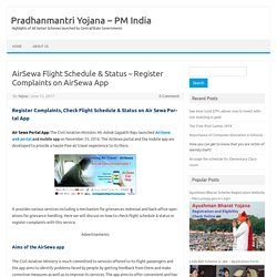AirSewa Flight Schedule & Status - Register Complaints on AirSewa App