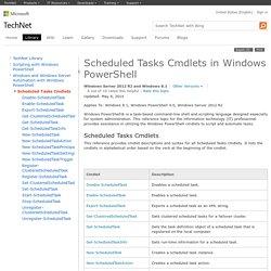 Scheduled Tasks Cmdlets in Windows PowerShell