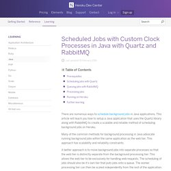 Scheduled Jobs with Custom Clock Processes in Java with Quartz and RabbitMQ