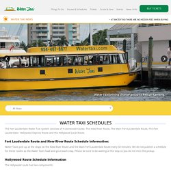 Fort Lauderdale Water TaxiFt Lauderdale Water Taxi