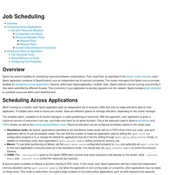 Job Scheduling - Spark 1.6.1 Documentation