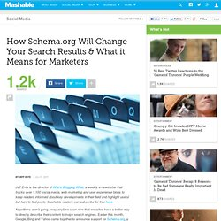How Schema.org Will Change Your Search Results & What it Means for Marketers