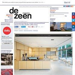 Schemata Architects creates minimal interior for Blue Bottle coffee shop