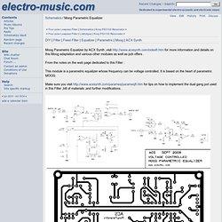 Schematics / Moog Parametric Equalizer