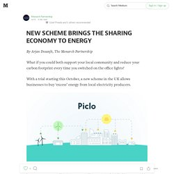NEW SCHEME BRINGS THE SHARING ECONOMY TO ENERGY