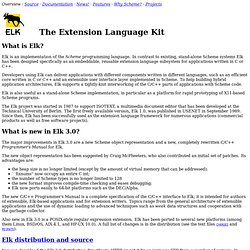 Elk: Scheme-based Extension Language Kit