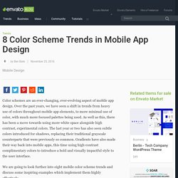 8 Color Scheme Trends in Mobile App Design