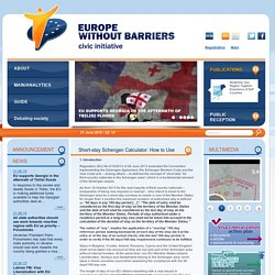 Short-stay Schengen Calculator: How to Use « Europe Without Barriers