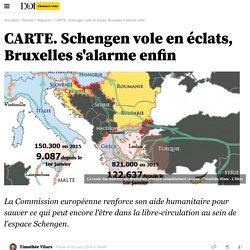 CARTE. Schengen vole en éclats, Bruxelles s'alarme enfin - 2 mars 2016