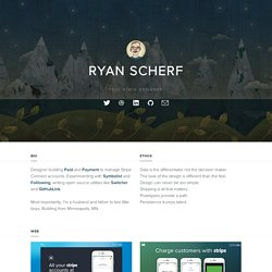 Ryan Scherf : Minneapolis based web design + development