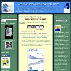 Helge Scherlund's eLearning News: Free E-Book: Understanding Mobile Learning