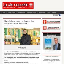 Alain Schermesser, président des Restos du Cœur de Savoie