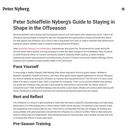 Peter Schieffelin Nyberg's Guide to Staying in Shape in the Offseason - Peter Nyberg Official Website