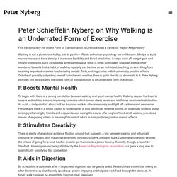Peter Schieffelin Nyberg on Why Walking is an Underrated Form of Exercise - Peter Nyberg Official Website