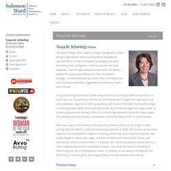 Tanya M. Schierling - Solomon Ward Partner